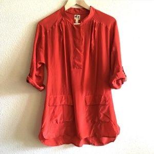 Anthropologie Silk Tunic